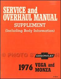 1976 chevrolet vega monza original 2 book repair shop manual set 76 1976 chevrolet vega monza repair shop manual supplement original