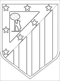 Kleurplaat Met Atlético Madrid Logo Gratis Kleurplaten