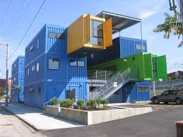 Nice Blue Nuance Of The Cargo Box Homes That Can Be Decor With Grey Stairs  Can Add The Beauty Inside The Modern House Design Ideas That Make It Seems  Great