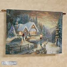 country christmas homecoming wall tapestry multi warm on christmas wall art tapestry with holiday wall art christmas tapestries canvas metal art touch