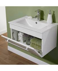 turin gloss white wall mounted basin unit with door 1 tap hole ceramic basin 600mm