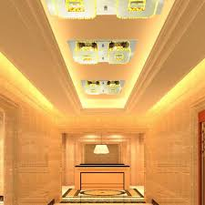 24w led ceiling light modern flush mount crystal ceiling lamp fitting stainless steel chandelier ceiling lights for hallway aisle porch bedroom with