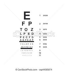 Doctor Chart Eye Doctor Chart Vector