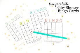 Template Baby Shower Bingo Card Template Zoom Free Printable