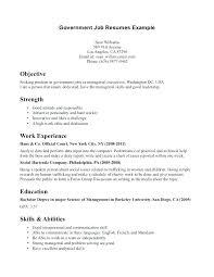 Government Resume Templates Impressive Format For Federal Government Resume Examples Of Resumes Sample G
