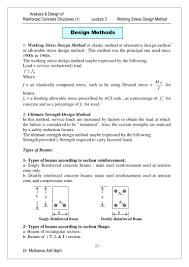 Working Stress Method Of Rcc Design Lec 3 Working Stress 1