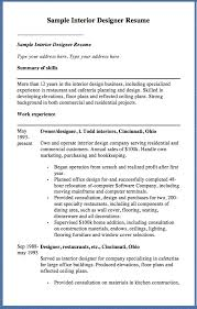 kitchen designer resumes sample interior designer resume sample interior designer resume type