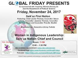 Women in Indigenous Leadership: Saik'uz Nation Chief and Council |  University of Northern British Columbia