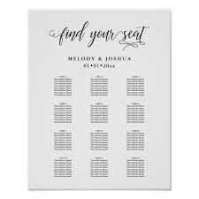 Pixdezines Modern Calligraphy Font Seating Chart