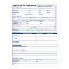 Form For Employee Tops 3288 Comprehensive Employee Application Form 8 1 2 X 11 Pack Of 25 Forms