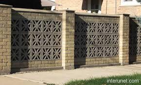 brick fence decorative blocks picture