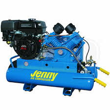gas air compressor. jenny g8hga-8p 8-hp 8-gallon gas wheelbarrow air compressor w/ honda engine