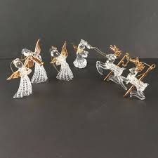 glass angel ornaments and reindeer blown with pressed hand