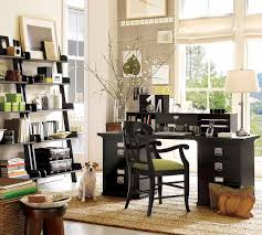 home office decor brown. Exciting Black Polished Office Table With Drawer Storage Also Custom Stairs Bookshelves As Well Brown Rugs On Laminate Wood Floors Inspiring Open Home Decor N