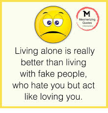 Love Is Fake Quotes Unique Mesmerizing Quotes Living Alone Is Really Better Than Living With