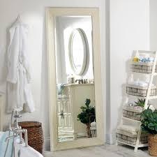 White Shabby Full Length Mirror 332x792 in Kirklands