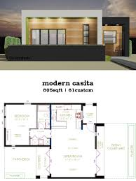 modern casita house plan 61custom