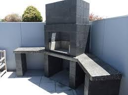 block honed fireplace