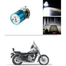 autostark bike h4 3led bright light bulb white for bajaj avenger 220 cruise