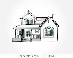 architecture houses sketch. Sketch Of House Architecture .Drawing Free Hand Vector Illustration.outline Drawing Perspective Houses P