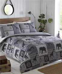 king size duvet set charcoal african safari animal king size quilt cover set