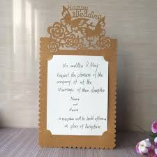 Single Page Wedding Party Invitation Card Romantic Laser Cut Cards