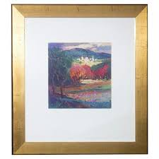 gold painted wood frame painting