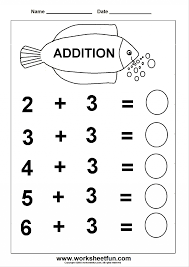 Additions: Addition3 Simplen And Subtraction Worksheet Beginner ...