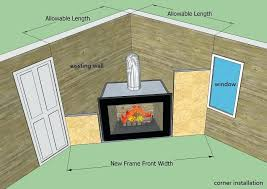 corner gas fireplace direct vent small installation requirements manual