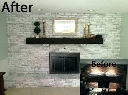 how to whitewash red brick fireplace painting fireplaces diy whitewashed white washed tutorial updated f