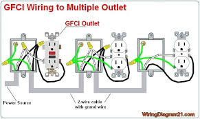 multiple gfci outlet wiring diagram ideas for the house outlet multiple gfci outlet wiring diagram