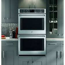 ge cafe series ct9550shss stainless steel 30 inch double wall oven