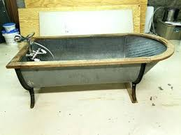 galvanized steel bathtub antique galvanized steel bathtub