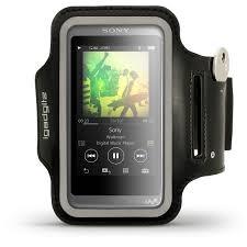 sony walkman. igadgitz reflective black sports jogging gym armband for sony walkman nw-a35 nw-a40