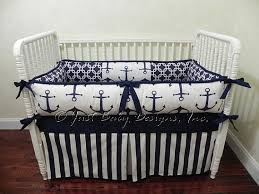custom baby bedding set harbor navy