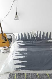 magical thinking lightning grey and white duvet cover