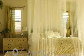 Sheer Curtains Bedroom Queen Canopy Beds With Sheer Curtains Amys Office