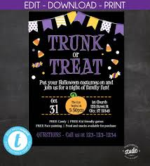 Event Flyer Delectable Trunk Or Treat Halloween Event Flyer And Invite Community Etsy