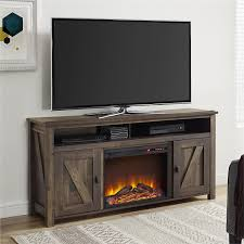 com ameriwood home farmington electric fireplace tv console for tvs up to 60 rustic kitchen