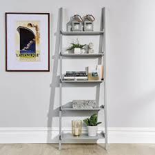 ladder shelf unit grey big furniture