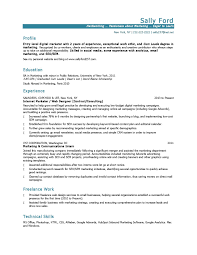 Entry Level Marketing Resume Examples 24 Marketing Resume Samples Hiring Managers Will Notice 1