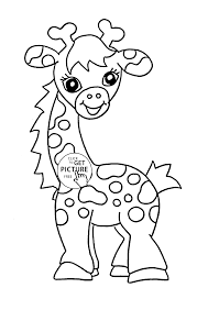 Baby Giraffe Animal Coloring Page For Kids Baby Animal Coloring
