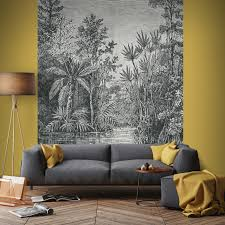 Gamma Fotobehang Jungle Zwart Wit 105411 Kopen Natuur Bloemen