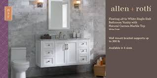 undermount single sink bathroom vanity