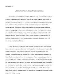 Decision Essay English Essay 2