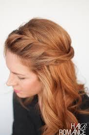 hair romance twist back hairstyle tutorial