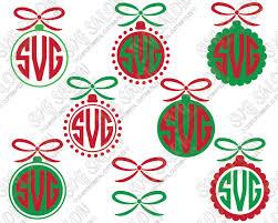 Christmas Circle Ornament Monogram Custom DIY Iron On Cutting File Set in  SVG, EPS,
