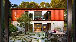 Home Interior:Great Shipping Container Home With Unique Roof Design  Delightful Diy Shipping Container House