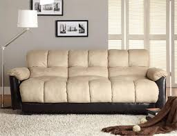 Clack Beige Futon Sofa Piper Collection Style 480MFR
