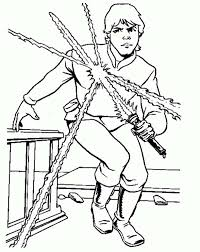 Small Picture Luke Skywalker from Star Wars Coloring Page Download Print